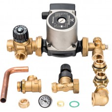 Насосно-смесительный узел с термостатическим клапаном и байпасом; Grundfos UPSO 25-65 130
