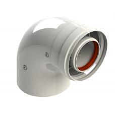 Отвод коаксиальный 90° d 60/100 мм V